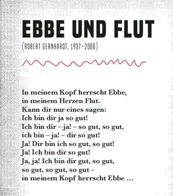 Gedicht über Ebbe und Flut in Verbindung mit Liebe
